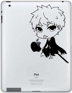 Apple iPad Decal  Bleach Ichigo Chibi par CarbonFiberiPhone sur Etsy, $8.00