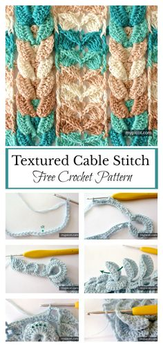 Textured Cable Stitch Free Crochet Pattern #freecrochetpatterns