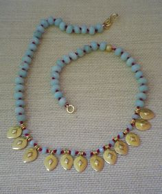 Red Knotted Amazonite Necklace by gwensofferjewelry on Etsy, $65.00