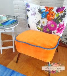 SOLD/ Commission Piece  Vintage Cocktail chair by BlueberryLiving