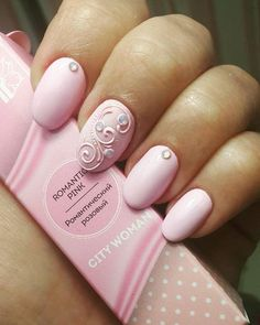 Want some ideas for wedding nail polish designs? This article is a collection of our favorite nail polish designs for your special day. Funky Nails, Cute Nails, Pretty Nails, Hair And Nails, My Nails, French Nails, Wedding Nail Polish, Work Nails, Nails Design With Rhinestones