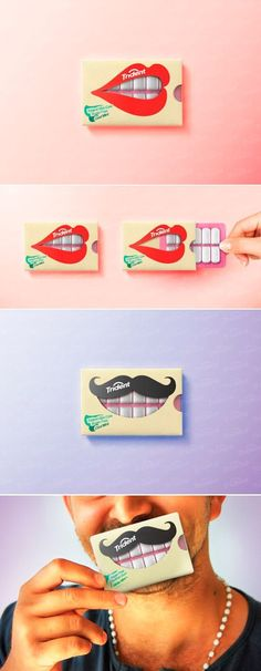 12 Chewing Gum Packaging Designs To Get Inspiration From - Ateriet Clever Packaging, Food Packaging Design, Packaging Design Inspiration, Brand Packaging, Branding Design, Logo Design, Graphic Design, Design Package, Label Design