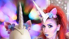 Make your own Unicorn Headpiece! Diy Unicorn Horns, Diy Unicorn Costume, Unicorn Horn Headband, Unicorn Party, Halloween Costume Props, Halloween Ideas, Wholesale Hair Accessories, Bottle Cap Crafts, Creative Costumes