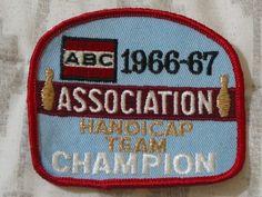 A Junkee Shoppe Junk Market Stop: ABC BOWLING PATCH Handicap Champion 1966 1967 Season ... For Sale Click Link Here To View >>>> http://ajunkeeshoppe.blogspot.com/2016/01/abc-bowling-patch-handicap-champion_12.html