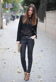 Leopard Boots & Sequins  , Zara in Boots, Zara in Blazers
