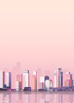 Urban scene scene at dusk background vector premium image by Building Illustration, City Illustration, Landscape Illustration, Dark Landscape, Urban Landscape, Pastel Landscape, Landscape Artwork, Landscape Design, Aesthetic Backgrounds