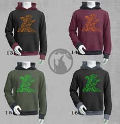 Mens hoodie with INKAS DJ  print - psy clothing -festival- blacklight active-Festival Wear-psychedelic clothing by PSYDRUID on Etsy