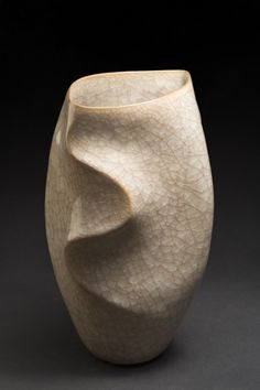cavinmorrisgallery: Watanabe Akihiko Vase Ceramic with celadon...