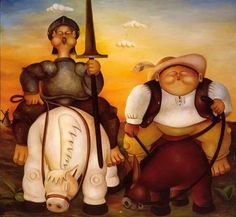 Don Quijote y Sancho Panza -Alberto Goday