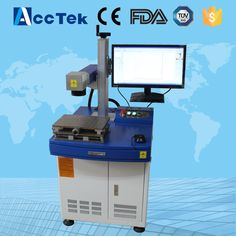 AccTek 10W 20W 30W metal fiber laser marking machine /fiber laser marking machine for metal and nonmetal