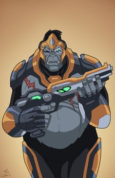 Gorilla Grodd (Earth-27) commission by phil-cho on DeviantArt