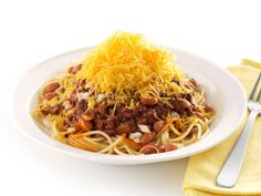 Cincinnati Chili from FoodNetwork.com-this was fabulous-just like the restaurant but much fresher tasting!