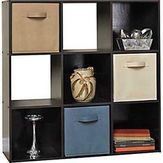 Closetmaid Cubeicals 9 Cube Storage Organizer Espresso Shelves