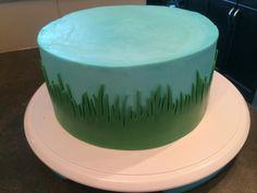Fondant grass border for cake