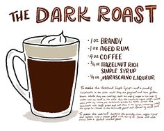 OSBP Signature Cocktail Recipe Card The Dark Roast Shauna Lynn Illustration
