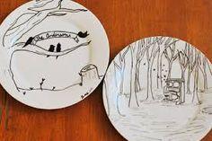 Resultado de imagen de painting porcelain,pinterest