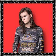 KENZO, LOVE IT FOLLOW MY FASHIONBLOG : c-raze.blogspot.be OR www.facebook.com/... #fashion #crazecolumn #fashionblogging #vintage #style #trends