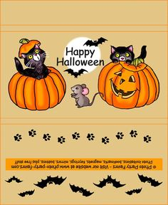 Halloween Cats Free Printable Chocolate Bar Wrapper