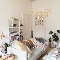 A pastel-hued living