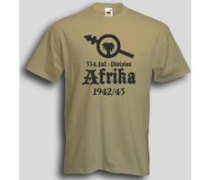T-Shirt 334 Infanterie Division  Wehrmacht T-Shirt 334 Infanterie Divison Afrika 1942/43. Das Afrika Korps T-Shirt ist in den Größen S-3XL erhältlich. Auf dem T-Shirt ist das Abzeichen der 334. Infanterie Division des deutschen Afrikakorps abgebildet. / mehr Infos auf: www.Guntia-Militaria-Shop.de