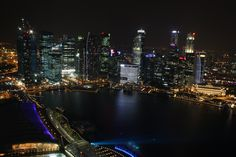 Singapore. View from Marina Bay Sands.