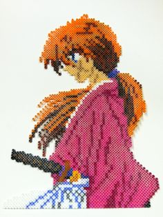 Perler Art: Rurouni Kenshin by thewiredslain on deviantart
