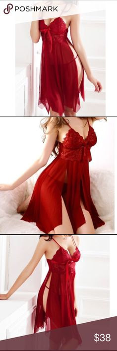Just arrived ❤️Baby doll dress lingerie Spaghetti strap baby doll dress lingerie with g-string/brand new/no returns Intimates & Sleepwear