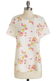 We Go Pathway Back Top | Mod Retro Vintage Short Sleeve Shirts | ModCloth.com
