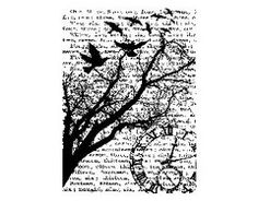 Stampers Anonymous - Tim Holtz - ATC - Cling Mounted Rubber Stamps - Time Collage