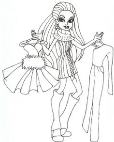Free Monster High Coloring Pages On Pinterest