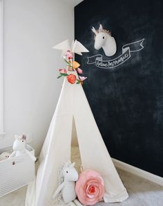 Moozle Reg size teepee styled by Little Baby Garvin blogged over on Kids Teepee tent