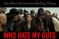 Will Turner being The Whelp as he is called by Captain Jack Sparrow. Pirates of the Caribbean At World's End humor