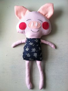 Custom Pig Doll by LBHCreations on Etsy, $25.00