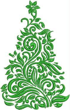 Items op Etsy die op Damast kerstboom borduren Design lijken