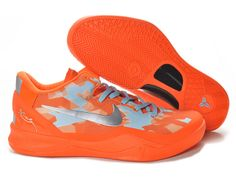 best service 5febd f9687 Wholesale Cheap Nike Zoom Kobe 8 Orange Metallic Silver For Sale