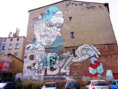 MURAL ŁÓDŹ - robot Poland, Mount Rushmore, Robot, Street Art, Mountains, Nature, Naturaleza, Robots, Nature Illustration