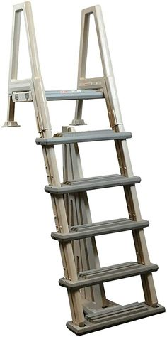 pool steps above ground: Patio, Lawn & Garden Above Ground Pool Steps, Above Ground Pool Ladders, In Ground Pools, Swimming Pool Ladders, Small Swimming Pools, Best Ladder, Cheap Pool, Pool Supplies, Building A Deck