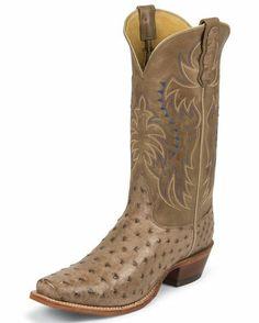 Men's Mink Full Quill Ostrich Boot