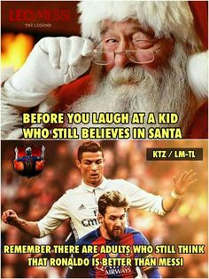 - Funny Sports - - The post appeared first on Gag Dad. Funny Football Memes, Funny Sports Memes, Sports Humor, Messi Vs Ronaldo, Lionel Messi, Messi 10, Liga Soccer, Soccer Motivation, Messi Soccer