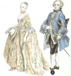 Rococo Fashion, Fashion, Costumes Design, 18Th Century,
