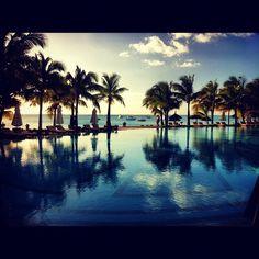 Sunset time at Le Paradis Hotel & Golf Club - Mauritius