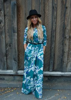 Green Floral Dress- so pretty and could be dressed up or down. @PalmPalmSwim