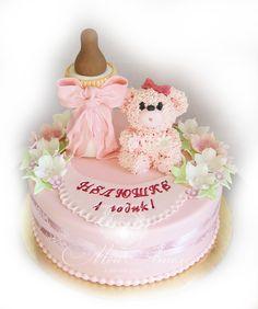 Girl Baby Cake. Детский торт для девочки.