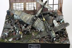 Junkyard 1/32 Scale Model Diorama