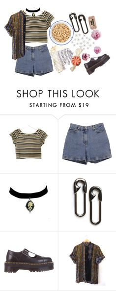 """""""8th of April"""" by duvide ❤ liked on Polyvore featuring Ann Taylor, MANGO, Dr. Martens and grunge"""