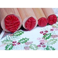 Rubber Stamp Tapestry - WINTER GARLAND - dřevěná razítka