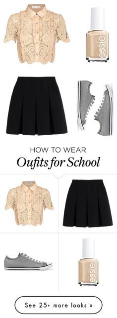 """Box Look /#6: Old School"" by togetherforever713 on Polyvore featuring self-portrait, Alexander Wang, Converse and Essie"