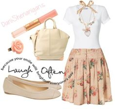 Love the skirt with flats!