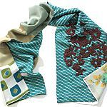 heartmade prints unique scarf - love the aqua and soft purple  hellenvanberkel.nl