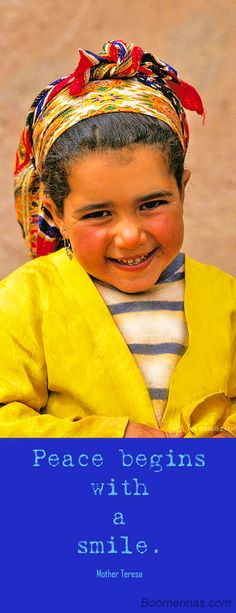 Peace starts with a smile - image world bank photo collection flickr creative commons - little girl from morocco